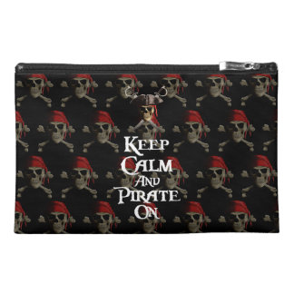Keep Calm And Pirate On Travel Accessory Bag