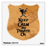 Keep Calm And Pirate On Wall Sticker