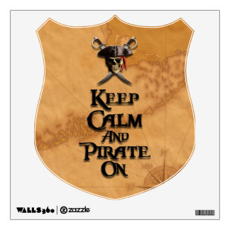 Keep Calm And Pirate On Wall Graphics