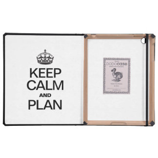 KEEP CALM AND PLAN iPad CASES
