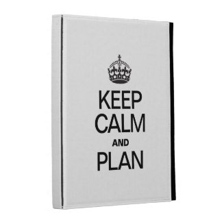 KEEP CALM AND PLAN iPad FOLIO COVER