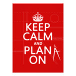 Keep Calm and Plan On (in any color) Personalized Invitations