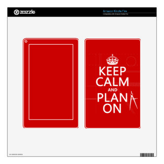 Keep Calm and Plan On (in any color) Kindle Fire Decal