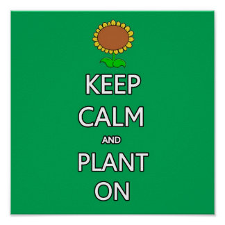 Keep calm and plant  garden vegetable food fruit g posters
