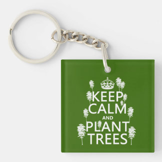 Keep Calm and Plant Trees (all colors) Keychain