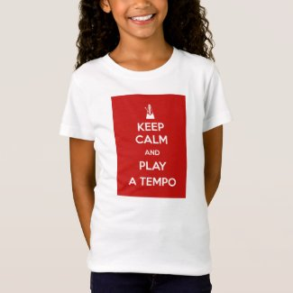 Keep calm and play a tempo Camiseta Niña