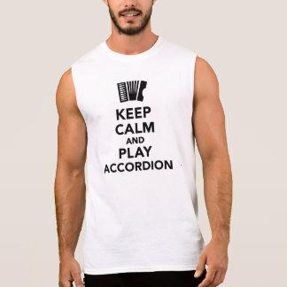 Keep calm and Play accordion Sleeveless Tee