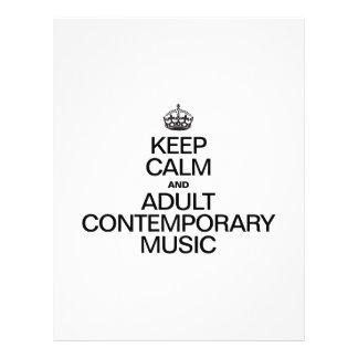 KEEP CALM AND PLAY ADULT CONTEMPORARY MUSIC FULL COLOR FLYER