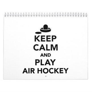 Keep calm and play Air hockey Calendar