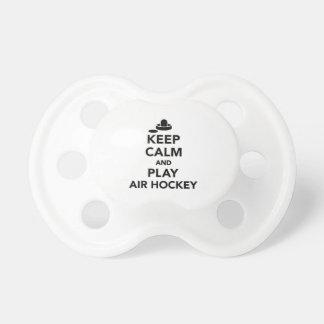 Keep calm and play Air hockey Pacifier