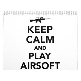 Keep calm and play Airsoft Calendar