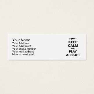 Keep calm and play Airsoft Mini Business Card