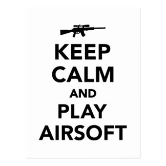 Keep calm and play Airsoft Postcard