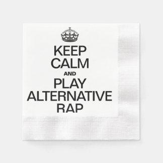 KEEP CALM AND PLAY ALTERNATIVE FOLK.ai Coined Cocktail Napkin