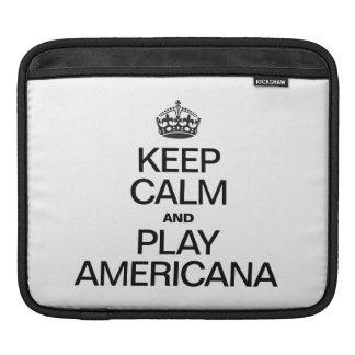 KEEP CALM AND PLAY AMERICANA SLEEVES FOR iPads