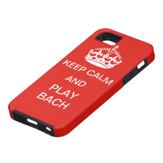 Keep calm and Play Bach iPhone 5 Cover