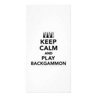 Keep calm and play Backgammon Photo Card
