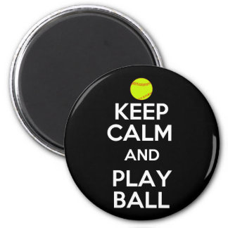 Keep Calm and Play Ball! 2 Inch Round Magnet