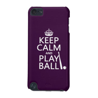 Keep Calm and Play Ball baseball any color iPod Touch (5th Generation) Case