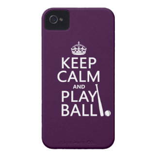 Keep Calm and Play Ball (baseball) (any color) Case-Mate iPhone 4 Case