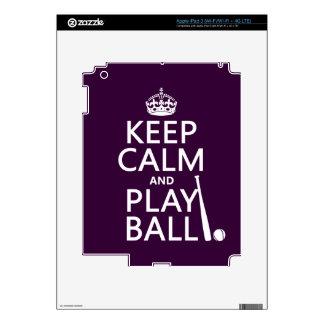 Keep Calm and Play Ball (baseball) (any color) Decal For iPad 3