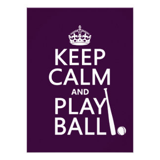 Keep Calm and Play Ball (baseball) (any color) Personalized Invitations