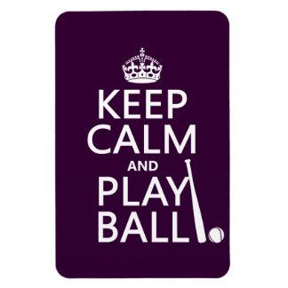 Keep Calm and Play Ball (baseball) (any color) Rectangular Photo Magnet