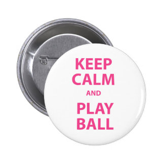 Keep Calm and Play Ball Button