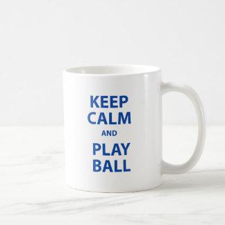Keep Calm and Play Ball Coffee Mug