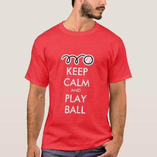 Keep calm and play ball   Cool Baseball t shirt