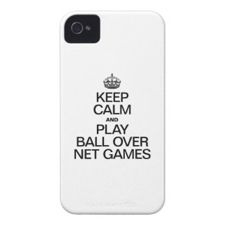 Keep Calm and Play Ball Over Net Games iPhone 4 Cover