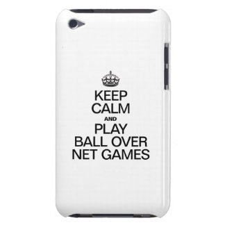 Keep Calm and Play Ball Over Net Games Barely There iPod Covers