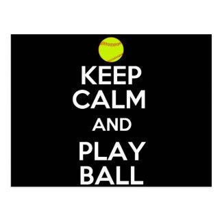 Keep Calm and Play Ball! Postcard