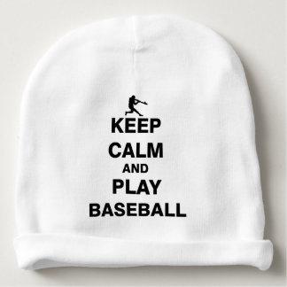 Keep Calm and Play Baseball Baby Beanie