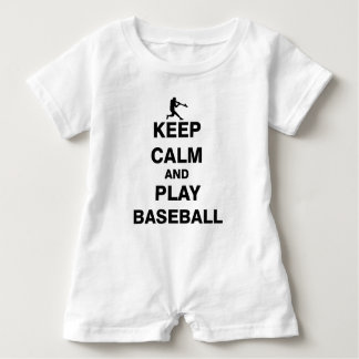 Keep Calm and Play Baseball Baby Romper