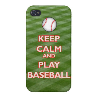 keep calm and play baseball carry sports sport ame covers for iPhone 4