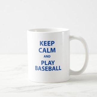 Keep Calm and Play Baseball Coffee Mug