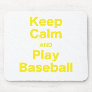 Keep Calm and Play Baseball Mouse Pad