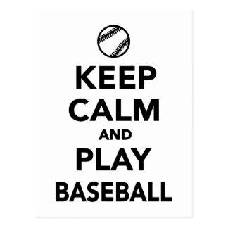 Keep calm and play Baseball Postcard
