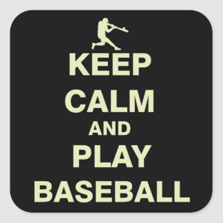 Keep Calm and Play Baseball Square Sticker