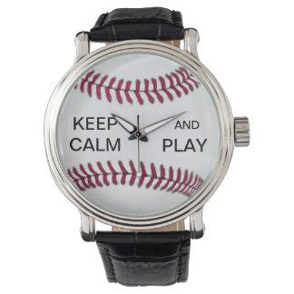 KEEP CALM AND PLAY BASEBALL WATCH