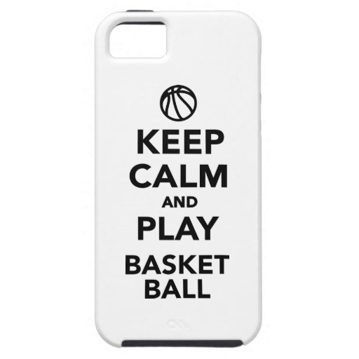Keep calm and play Basketball iPhone 5 Cover