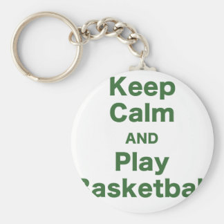 Keep Calm and Play Basketball Keychain