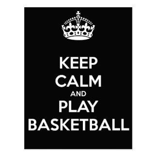 Keep Calm and Play BasketBall Postcard