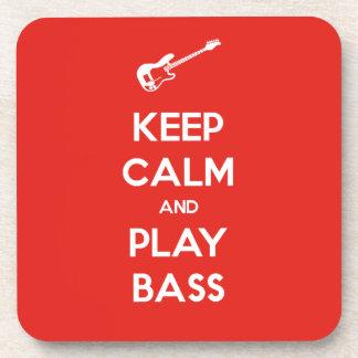 Keep Calm and Play Bass Coaster