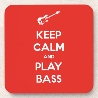 Keep Calm and Play Bass Drink Coasters