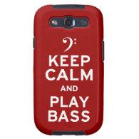 Keep Calm and Play Bass Galaxy SIII Case