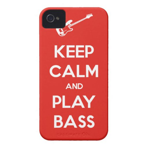 Keep Calm and Play Bass iPhone 4 Case-Mate Cases
