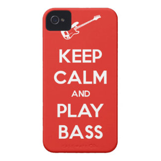 Keep Calm and Play Bass iPhone 4 Cover