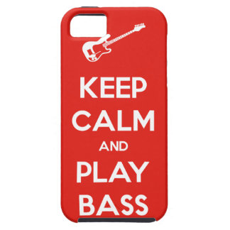 Keep Calm and Play Bass iPhone SE/5/5s Case